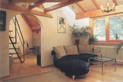 Eckzimmer mit Galerie AAB Atelier für Architektur und Bauökologie | Bern | Schweiz