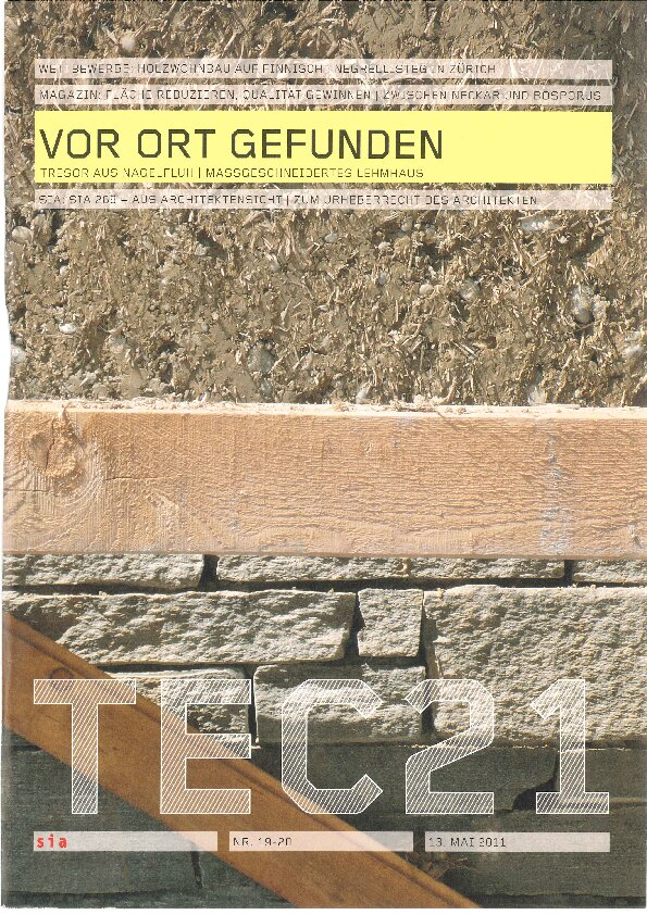 TEC Vor Ort gefunden AAB Atelier für Architektur und Bauökologie | Bern | Schweiz